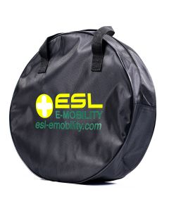 Walli EV cable bag round electric car equipment EV cable storage 400 x 130 mm black