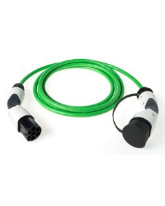 Walli BA electric car charging cable EV mode 3 type 2 to type 2 11kW 16A  400V 3 phase green