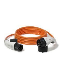 Walli DO Stecker Typ 2 Ladekabel Elektroauto Mode 3 Adapter Typ 2 auf Typ 2 Stecker 7,4 kW 32A 230V 1 phasig individuelle Länge orange