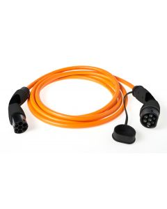 Walli BA Stecker Typ 2 Ladekabel Elektroauto Mode 3 Adapter Typ 2 auf Typ 2 Stecker 7,4 kW 32A 230V 1 phasig individuelle Länge orange