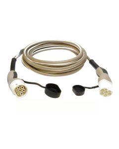 JAZZY2GO 632326 Typ 2 Ladekabel Elektroauto Mode 3 Adapter Typ 2 auf Typ 2 Stecker 22kW 32A  400V 3 phasig 6 m inkl. Tasche und Handschuhe 1