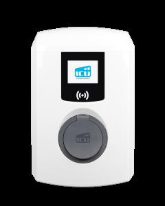 Alfen Eve Single Pro-line DE 904460123-905661002 | Wallbox Ladestation Elektroauto mit Ladesteckdose Typ 2 | 22kW | 32 A | 3 phasig | 400V | Display, RFID, DC-Fehlerstromschutz, MID-Energiezähler