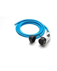Walli | DO Stecker | Ladekabel Elektroauto |  Typ 2 Ende offen | Wallbox Anschluss | 22kW | 32A | 400V | 3 phasig | blau