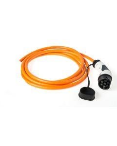 Walli | BA Stecker | Ladekabel Elektroauto |  Typ 2 Ende offen | Wallbox Anschluss | 7,4 kW | 32A | 230V | 1 phasig | orange