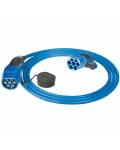 MENNEKES 36212 Typ 2 Ladekabel Elektroauto Mode 3 Adapter Typ 2 auf Typ 2 Stecker 7,4 kW 32A 230V 1 phasig 4 m