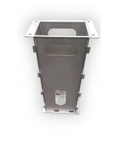 Alfen 833828601-ICU | Elektroauto Zubehör | Wallbox Befestigung | Eve Single / Double Pro-line / PG-line Metallsockel (für Standfuss)