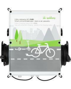 Spelsberg BCS PURE E Bike Ladestation Fahrrad Ladestation Pedelec Ladesäule 2 x Schuko Steckdosen 1 x Bosch und 1 x Shimano mit 2,5m Kabel Wandladestation LED Anzeige