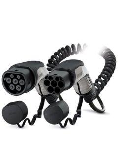 Phoenix Contact 1627133 Typ 2 Ladekabel Elektroauto Mode 3 Adapter Typ 2 auf Typ 2 Stecker 7,4 kW 32A 230V 1 phasig Spiral 4 m