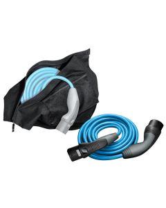 Schnellladekabel für den Bmw i3 in blau mit schwarzer Tasche