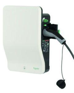 Schneider EVH2S22P02K | Wallbox Ladestation Elektroauto mit Ladesteckdose Typ 2 | 22kW | 32A | 400V | 3-phasig