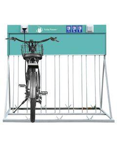 WL 4 E Bike Ladestation Fahrrad Ladestation Pedelec Ladesäule 4 x Schutzkontakt Steckdose 4 x Ständer