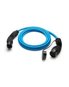Walli | Bals Stecker | Typ 2 Ladekabel Elektroauto | Mode 3 Ladekabel Adapter Typ 2 auf Typ 2 Stecker |  22kW | 32A | 400V | 3 phasig | blau