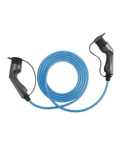 Walli BG Stecker Typ 2 Ladekabel Elektroauto Mode 3 Adapter Typ 2 auf Typ 2 Stecker 22kW 32A 400V 3 phasig Länge individuell blau