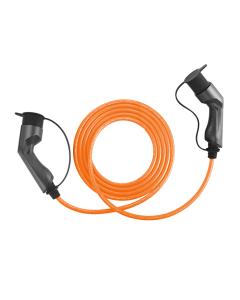 Walli BG Stecker Typ 2 Ladekabel Elektroauto Mode 3 Adapter Typ 2 auf Typ 2 Stecker 22kW 32A  400V 3 phasig Länge individuell orange