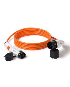 Ladekabel, 20A, 1-phasig, Typ 2 auf Typ 1, orange