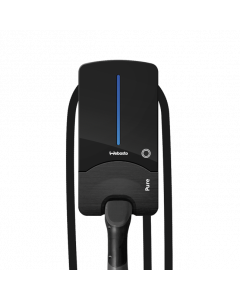 Webasto Pure Black Edition Type 2 Wallbox electric car charging station ev car charger 11kW 16A 400V 3 phase adjustible 7 m DC personal protective